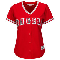 Los Angeles Angels of Anaheim Majestic Women's Cool Base Jersey – Red