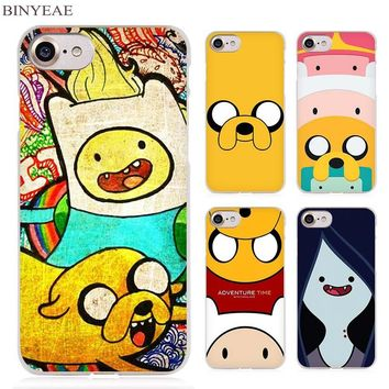 BINYEAE Adventure Time finn fade with jack Clear Cell Phone Case Cover for Apple iPhone 4 4s 5 5s SE 5c 6 6s 7 Plus