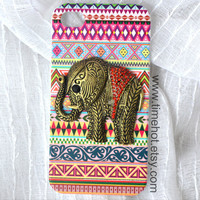 3D elephant Aztec Native American Tribal iphone by timehot on Etsy