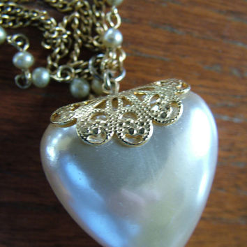 Vintage heartNecklace pendant perfect for by RetroVintageWeddings