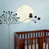 Childrens Baby Nursery Kids Room Large Tree with by decalyourwall