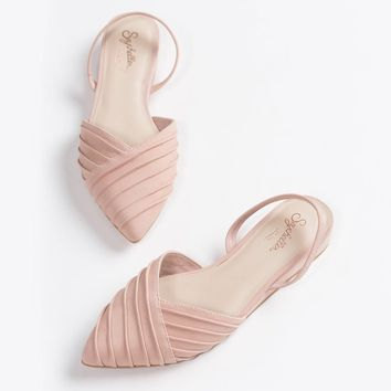 Seychelles Highly Touted Pink Leather Flats