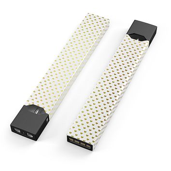 Tiny Golden Hearts Pattern - Premium Decal Protective Skin-Wrap Sticker compatible with the Juul Labs vaping device
