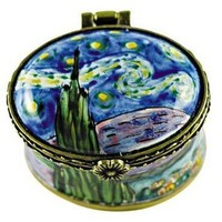 Van Gogh Starry Night HandPainted Ceramic Box, Small 1.5L