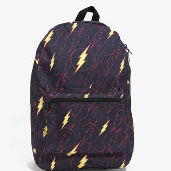 DC Comics The Flash Tossed Symbol Backpack
