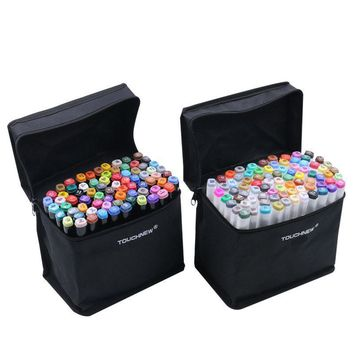 Permanent Fabric Markers 24/36/60 Colors Artist Dual Head Sketch Set For Marker School Drawing Marker Pen Painting Design Art