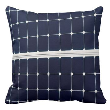 Image of a solar power panel funny throw pillow