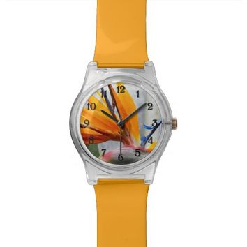 Bird of Paradise Floral Wristwatches