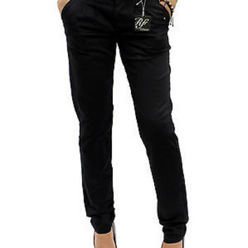 "New Comfy Cotton Black Skinny Chino Pants Trousers Size 5 / Waist 30""-31"" RF0217"