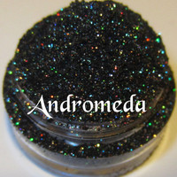 Andromeda Galactic Collection Galaxy Green Copper Black Glitter Eyeshadow Mica Pigment 5 Grams Lumikki Cosmetics
