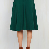 Just This Sway Skirt in Emerald | Mod Retro Vintage Skirts | ModCloth.com