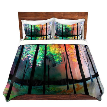 Duvet Cover - Pillow Shams - Bedding Set - King, Queen, Twin, The Four Seasons by Aja