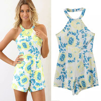 Women Summer Floral Romper [6315446145]