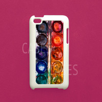 Ipod Touch 4g Cover  WaterColor iTouch 4 Case Ipod by DzinerCases