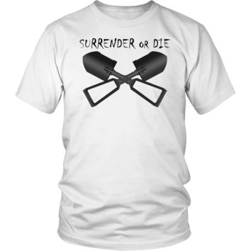 Surrender or Die Cross E-Tool Shirt
