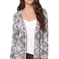 LA Hearts Two Toned Tribal Cardigan - Womens Sweater