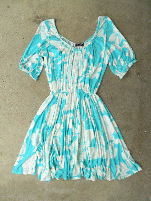 Vintage Hibiscus Dress [3132] - $43.00 : Vintage Inspired Clothing & Affordable Summer Dresses, deloom | Modern. Vintage. Crafted.