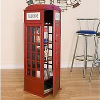 Phone Booth CD/DVD Media Storage Cabinet — QVC.com