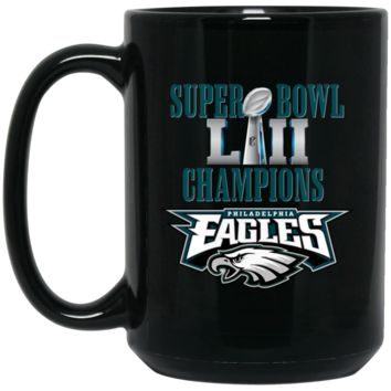 Super Bowl 52 Champions Philadelphia Eagles v2 BM15OZ 15 oz. Black Mug