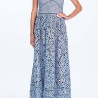 Emma Blue Lace Maxi Dress