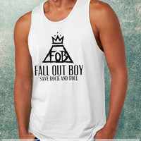 Fall Out Boy, Save Rock And Roll Clothing Tank Top For Mens
