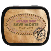 Mint to Be Stamp Western Personalized Save the Date Mint Tins for Engagements, Weddings, Party Favors, Candy Favors