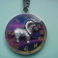 Astrological Sign 3D Aries, Necklace,Zodiac Charm, Astrology