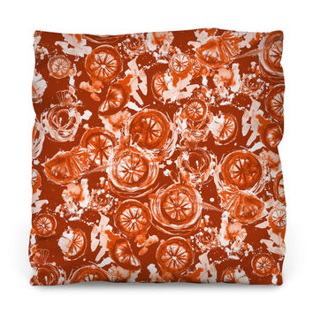 Blood Orange Outdoor Throw Pillow