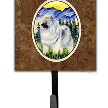 Caroline's Treasures SS8323SH4 Keeshond Leash Holder or Key Hook, Small, Multicolor
