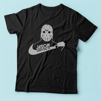 Jason Voorhees Just Do It Nike Parody Men'S T Shirt