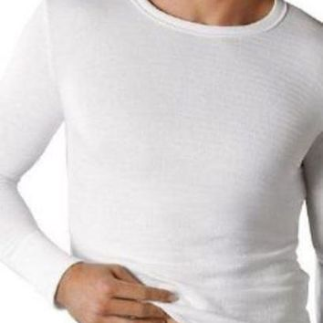 Mens Thermal Lightly Brushed Underwear Thermal Long Sleeve Vest S-2XL
