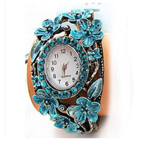 Beautiful Vintage Style Turquoise Gold Watch Bracelet