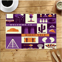Welcome To Night Vale Collage Placemats