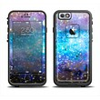 The Glowing Space Texture Apple iPhone 6 LifeProof Fre Case Skin Set