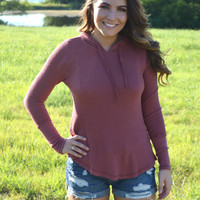 On the Road Thermal Tee- Rose
