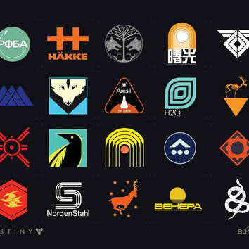 Destiny Icons Poster
