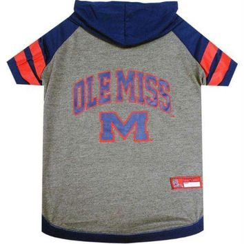 PEAPYW9 Ole Miss Rebels Pet Hoodie T-Shirt
