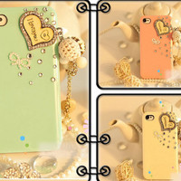 iPhone case, iPhone 5 Case, iPhone 4 Case, iPhone 4s Case, Cute iPhone 5 Cases, Bling iPhone 4 case, Cute iPhone 4 cases charm I Love You