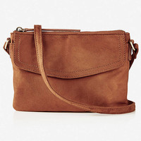 Flap Front Cross Body Bag -cognac from EXPRESS