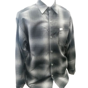 Light Grey Long Sleeve Flannel Shirt