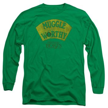 Fantastic Beasts - Muggle Worthy Long Sleeve Adult 18/1 Officially Licensed Shirt