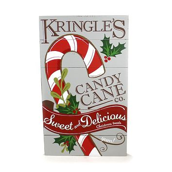 Christmas Kringle's Candy Cane Co Wall Hanger Christmas Wall Art