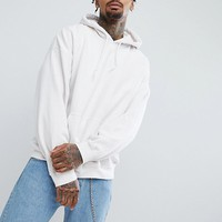 Reclaimed Vintage Inspired Oversized Hoodie In White at asos.com