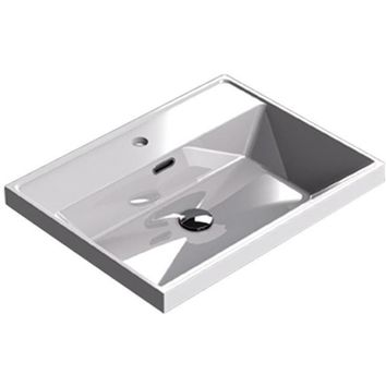 Sonia CODE Washbasin 24 inches Single Drop-In Rectangular MX1 Bathroom Sink