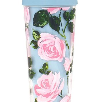 Rose Parade Thermal Travel Coffee Mug by Bando