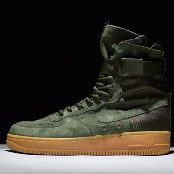 Jacklish Nike Special Field Air Force 1 Sf-af1 High Tops Faded Olive Cheap Sale Online
