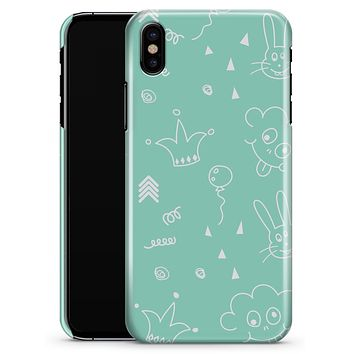 Teal Joker Mint Pattern - iPhone X Clipit Case