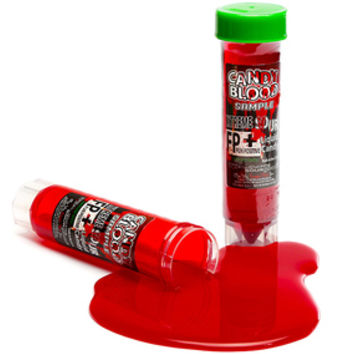 Candy Blood Extreme Sour Liquid Candy Vials: 20-Piece Party Pack