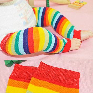 Kids Baby Girl Boy Leg Warmers Cover Tights Toddler Socks Children Colorful HU