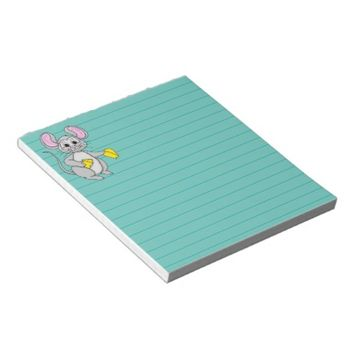Cartoon Style Mouse Graphic Notepad